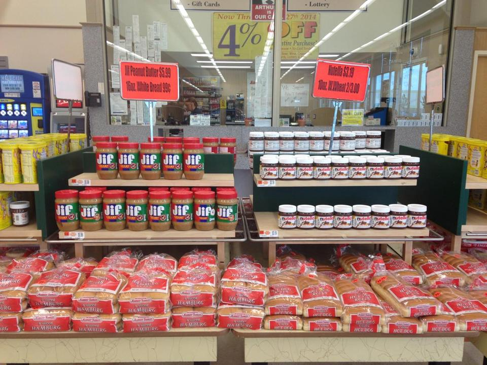 The produce and meat aisles may be barren, but there are still plenty of bargains at Market Basket -- and no lines.