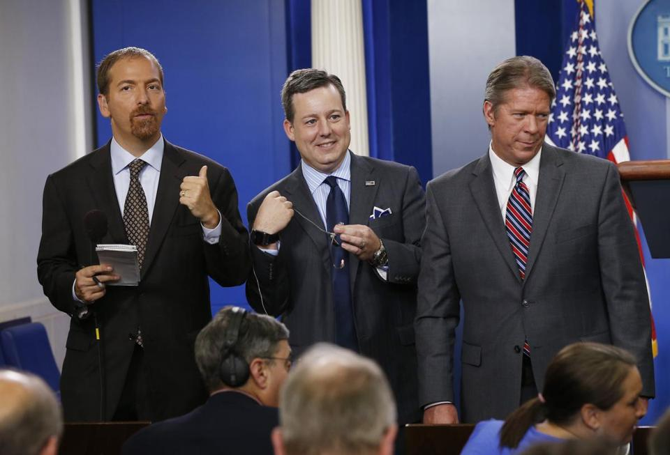 "Chuck Todd (left) is considered likely to replace David Gregory on ""Meet the Press."""