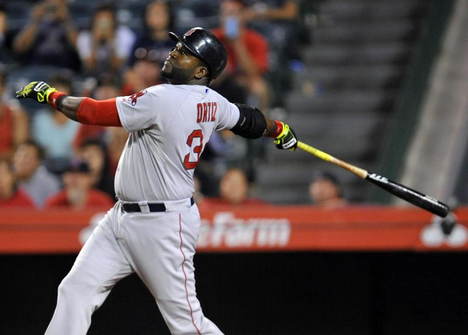 David Ortiz prefers brightly colored Lizard Skins tape on his bat handle — it's even better than spit. Gary A. Vasquez-USA TODAY