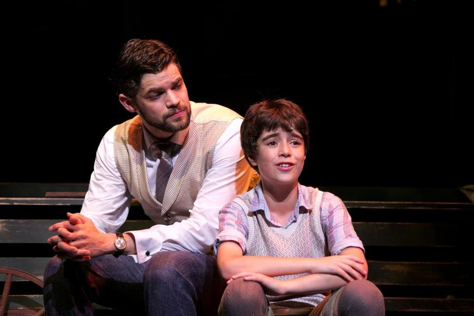 "American Repertory Theater's production of ""Finding Neverland."" Pictured (from left): Jeremy Jordan, Aidan Gemme"