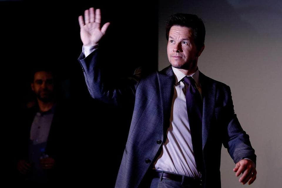 "Mark Wahlberg at the Beijing premiere of ""Transformers: Fall of Time."""