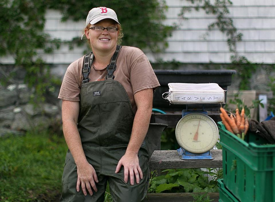 "Laura Olive Sackton, owner and cofounder of First Root Farm in Lexington, worked on farms during high school and college breaks. ""I wanted to be doing my summer job all the time,"" she says."