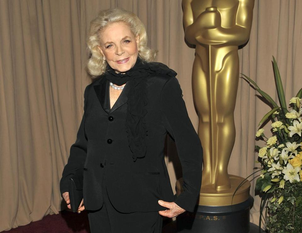 Actress Lauren Bacall during the Academy Awards in Los Angeles in 2010.