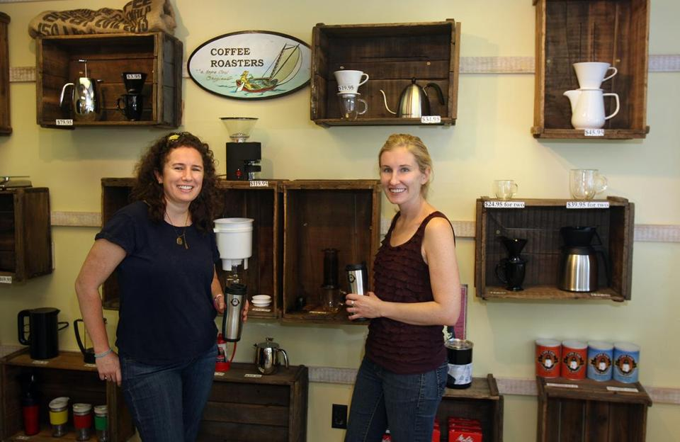 Molly (left) and Cate MacGregor have grown Cape Cod Coffee Roasters since purchasing it from Demos Young in 2011.