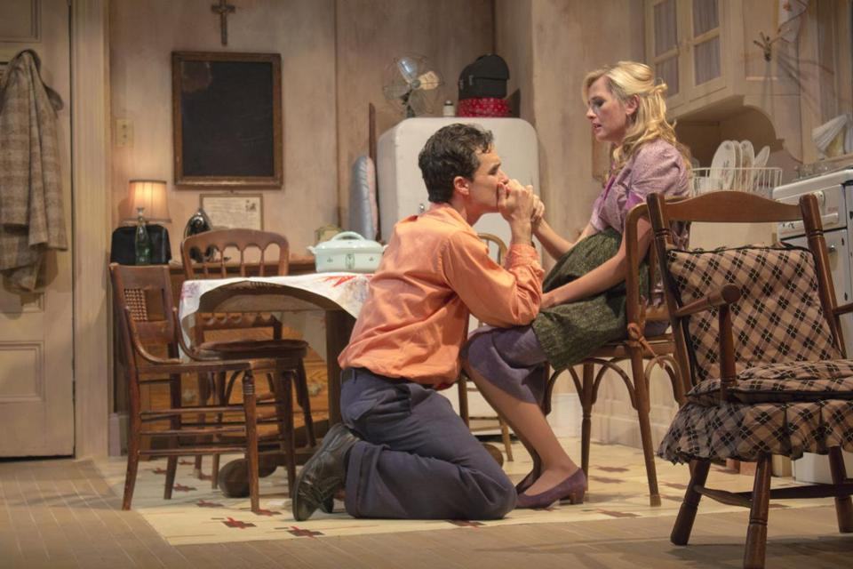 "Tommy Schrider and Megan Ketch in the Berkshire Theatre Group production of ""A Hatful of Rain."""