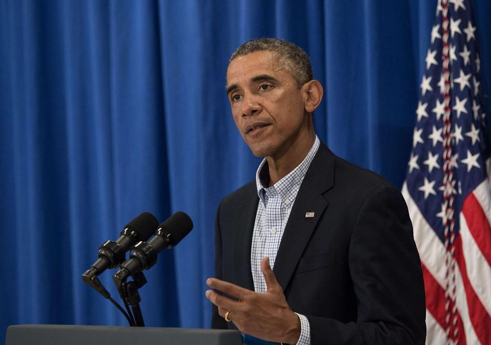President Obama appeared before live television cameras on Thursday to address the crises in Iraq and Ferguson, Mo.