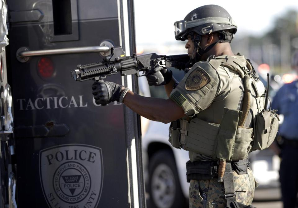 Images of heavily armed police officers in Ferguson have raised questions about military-grade weapons and other tools for local police.