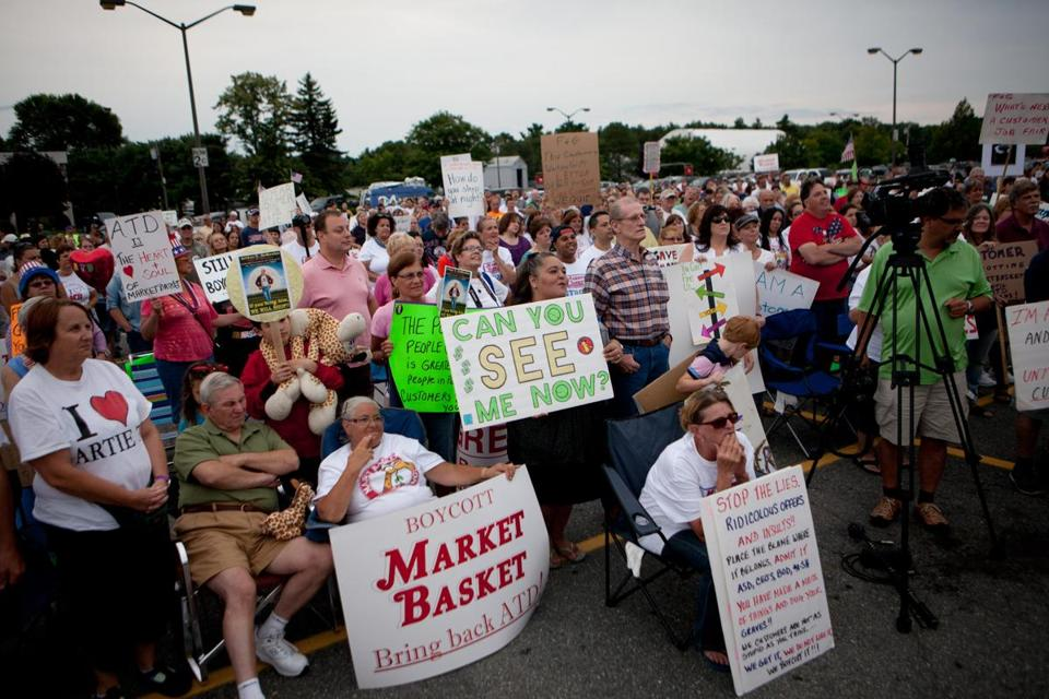 Competitors have kept quiet about the Market Basket boycott, wary of alienating customers loyal to the company, some of whom held a rally Saturday.
