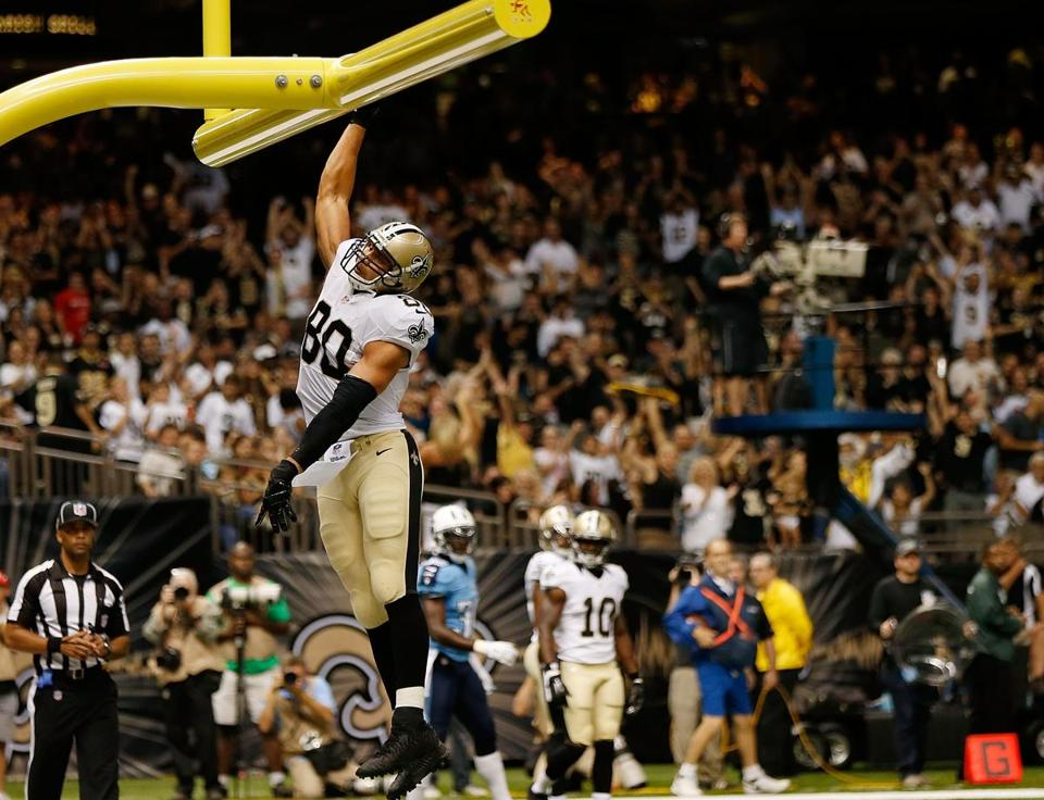 Jimmy Graham twice did an illegal slam dunk of the football against the Titans.