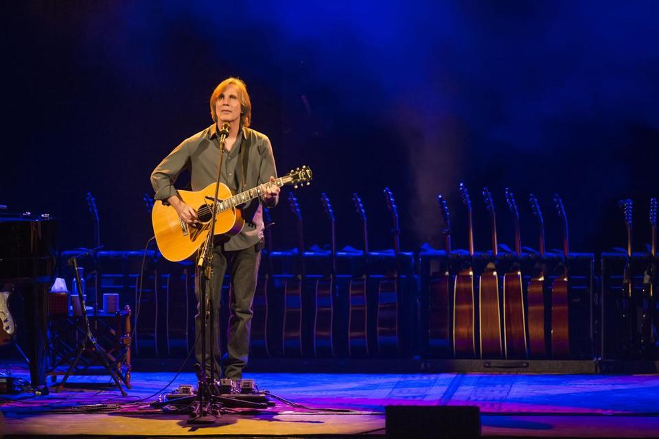Jackson Browne performs at the Opera House Saturday.