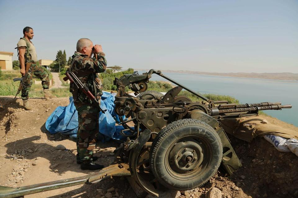 Kurdish forces approached the Mosul Dam and the city of Mosul Sunday.  The dam, which fell to the insurgents this month, supplies electricity to a large part of Iraq.