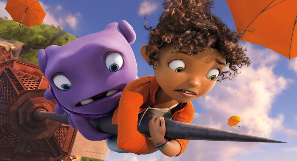 "Scene from DreamWorks's ""Home,"" due to be released in March 2015."