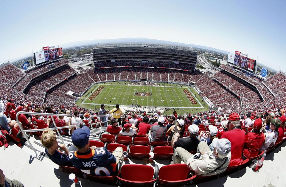 The 49ers debuted Levi's Stadium, their new home in Santa Clara, in a preseason game Sunday.