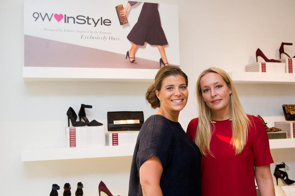 Leah Karp (right, with Erika Szychowski, Nine West's senior VP of marketing) says leopard styles should sell well.