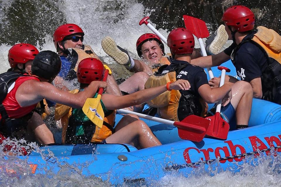 Rafters enjoyed white water during a trip on the Deerfield River.