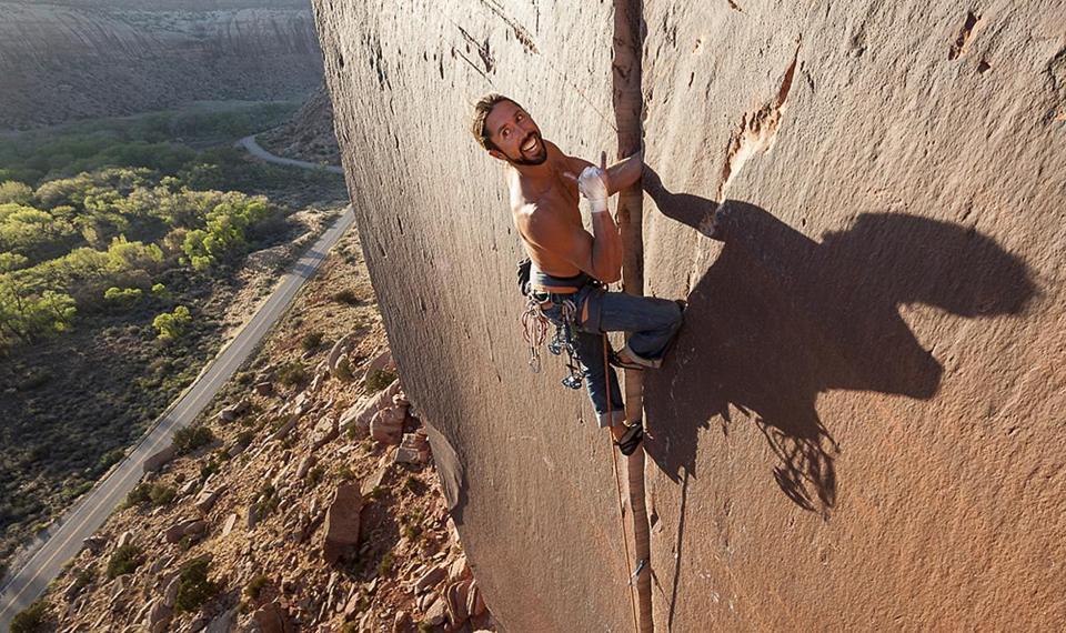 Brad Parker, seen climbing in Utah in 2013, was not using ropes when he fell.