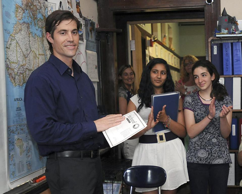 James Foley visited students at a Framingham school in 2011.