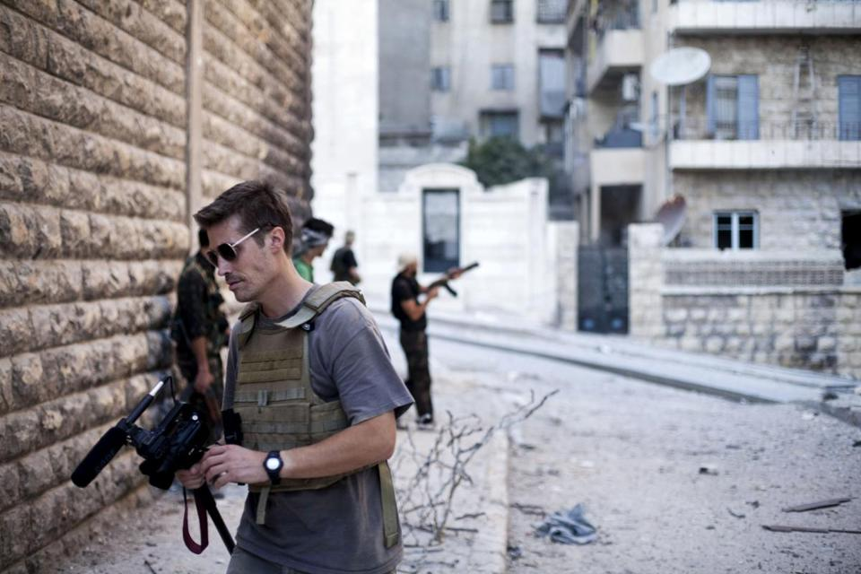 This September 2012 photo posted on the website freejamesfoley.org shows journalist James Foley in Aleppo, Syria.