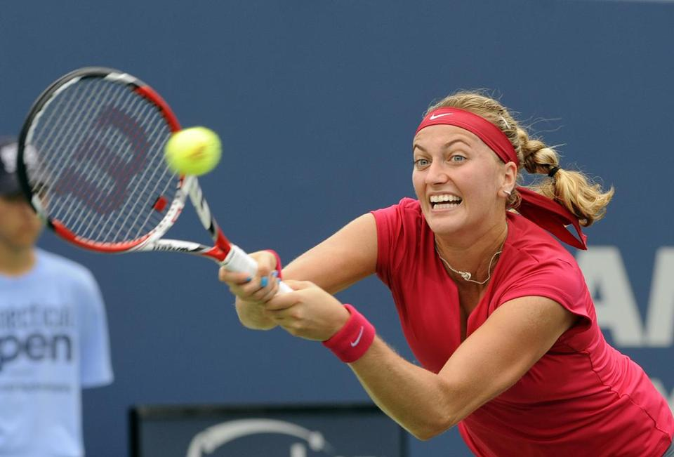 Petra Kvitova, with two Wimbledon titles to her name at age 24, is seeded third at the US Open. (AP Photo/Fred Beckham)
