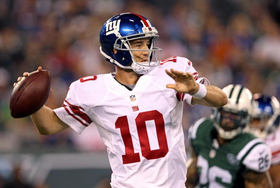 Coming off a career-worst season, Eli Manning hasn't been sharp for the Giants in the preseason.