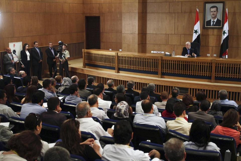 Foreign Minister Walid al-Moallem said Syria is ready to work with the international community to prevent terrorism.