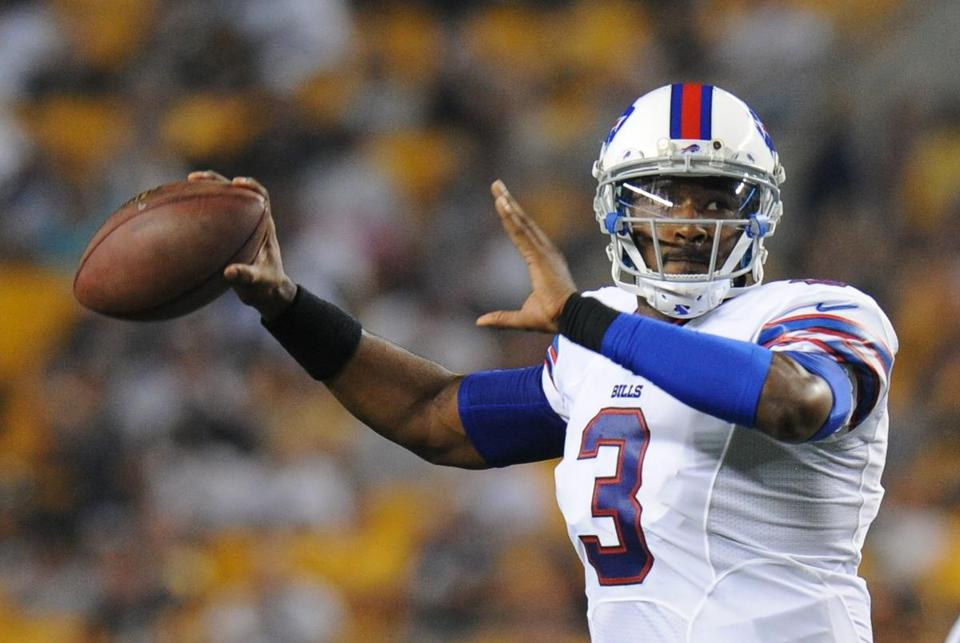 Second-year quarterback E.J. Manuel is a huge piece of the puzzle for the Bills. Don Wright/AP Photo