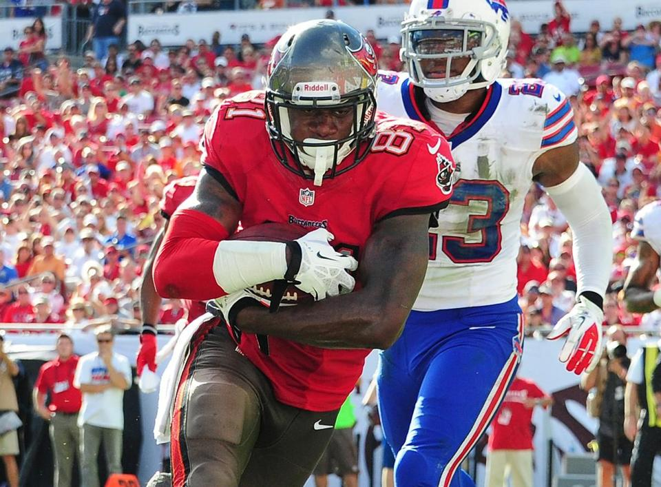 Tim Wright caught 54 passes for 571 yards and five touchdowns as a rookie with the Buccaneers.