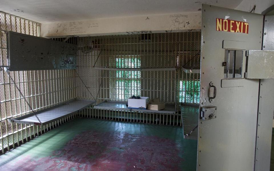 The jail in the Leflore County Courthouse where former SNCC activist Linda Wetmore was held for several days in 1964.