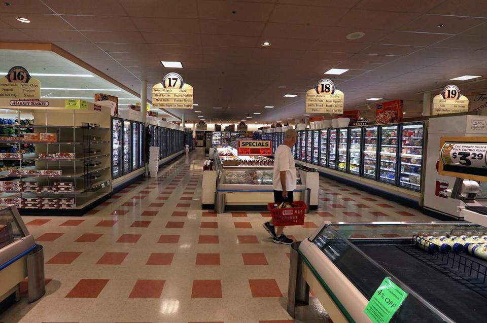 The scene on Tuesday at the Market Basket store at 1900 Main St. in Tewkesbury.