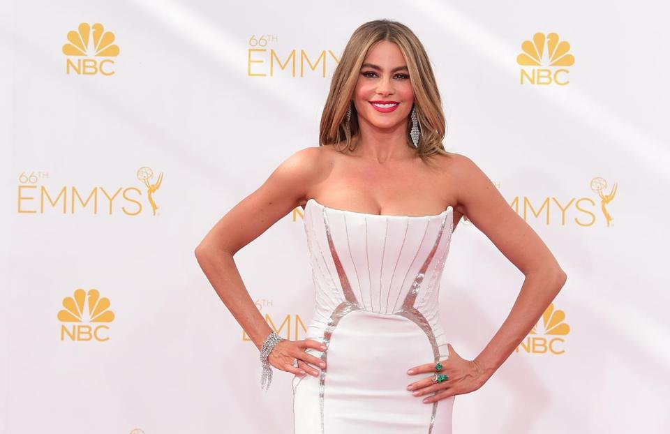 Actress Sophia Vergara at the Emmys on Monday.