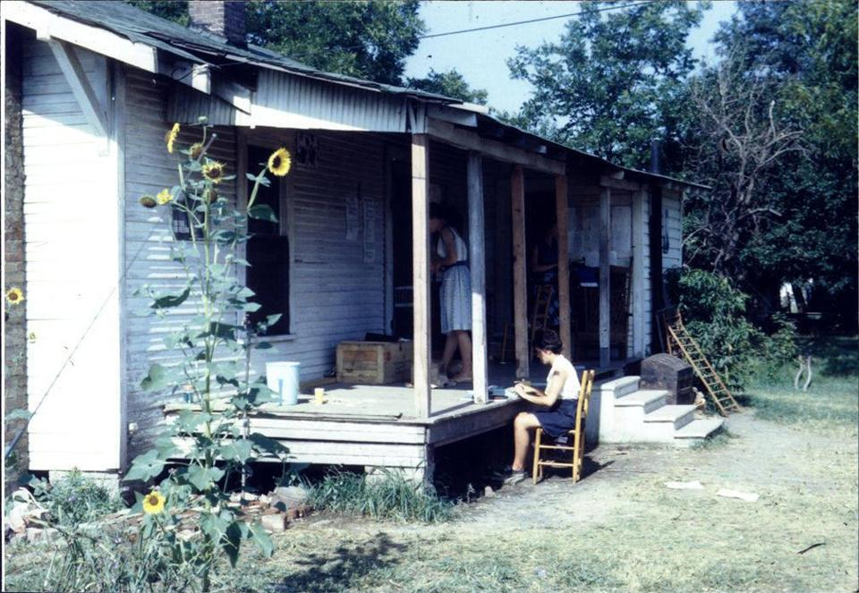 ***warning: image lo res, do not use for more than 2.25 columns *** From the Maurer (John B.) Freedom Summer Photographs; The photograph shows a Freedom School in Ruleville, Mississippi, in July 1964. (McCain Library and Archives, The University of Southern Mississippi)