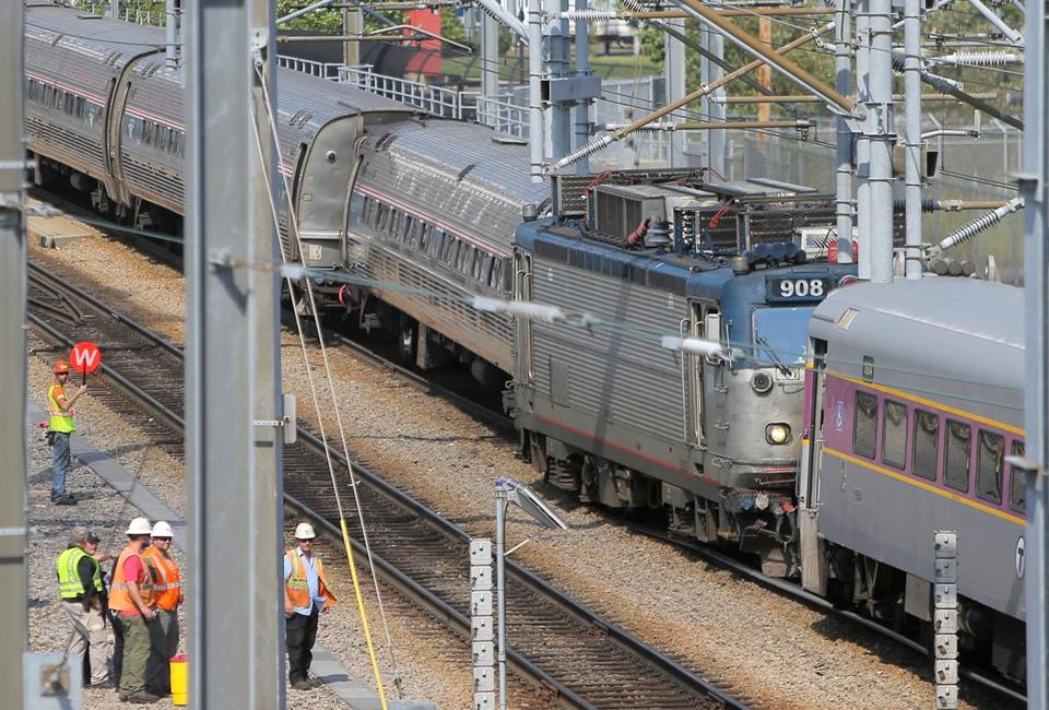 The collision at the Southampton Street yard Wednesday did not involve any passengers or cause any injuries.
