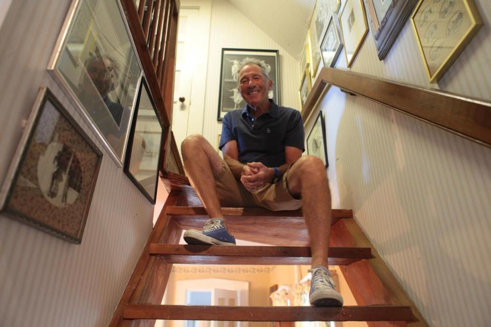 Playwright and filmmaker Israel Horovitz at his Gloucester home.