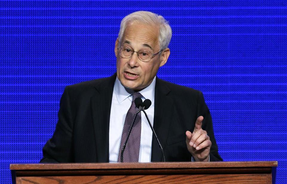 Democrat gubernatorial hopeful Don Berwick speaks at the state Democratic Convention in Worcester, Mass. in June.