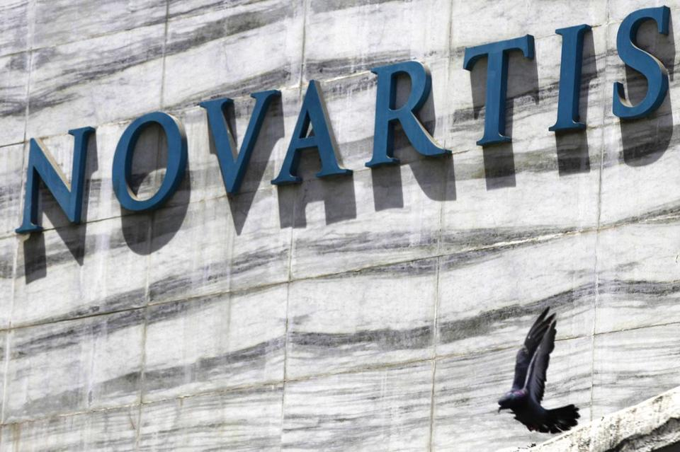 A study said a Novartis drug lowered the chances for heart failure patients of death or hospitalization by 20 percent.