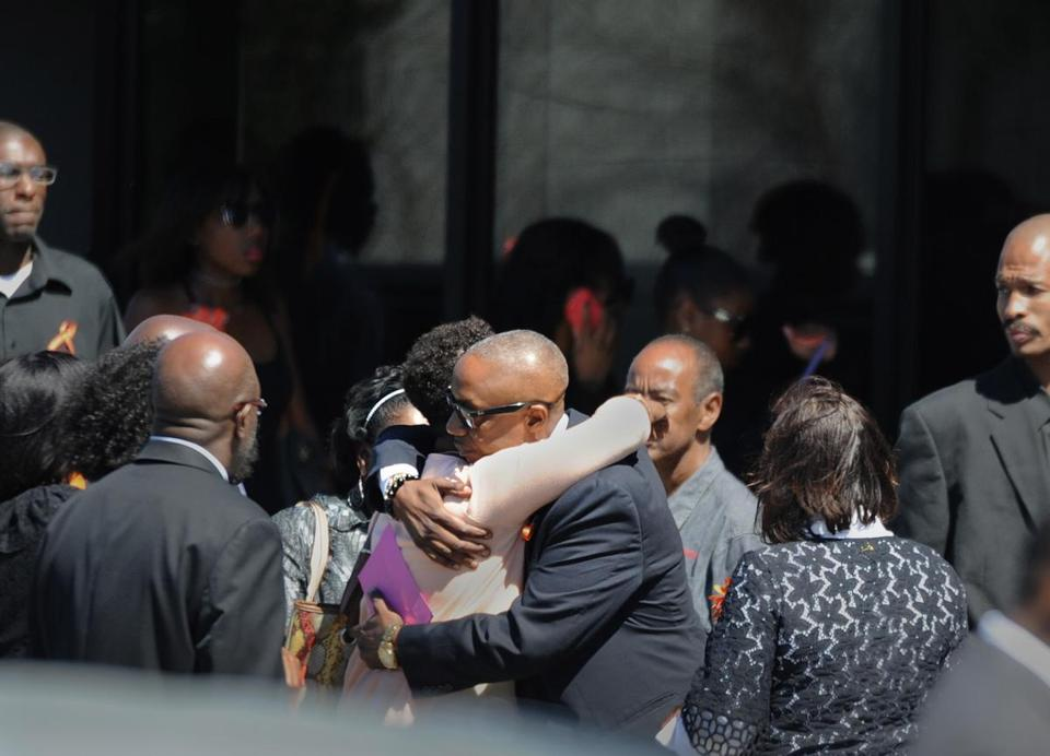 Mourners attended Dawnn Jaffier's funeral Saturday.