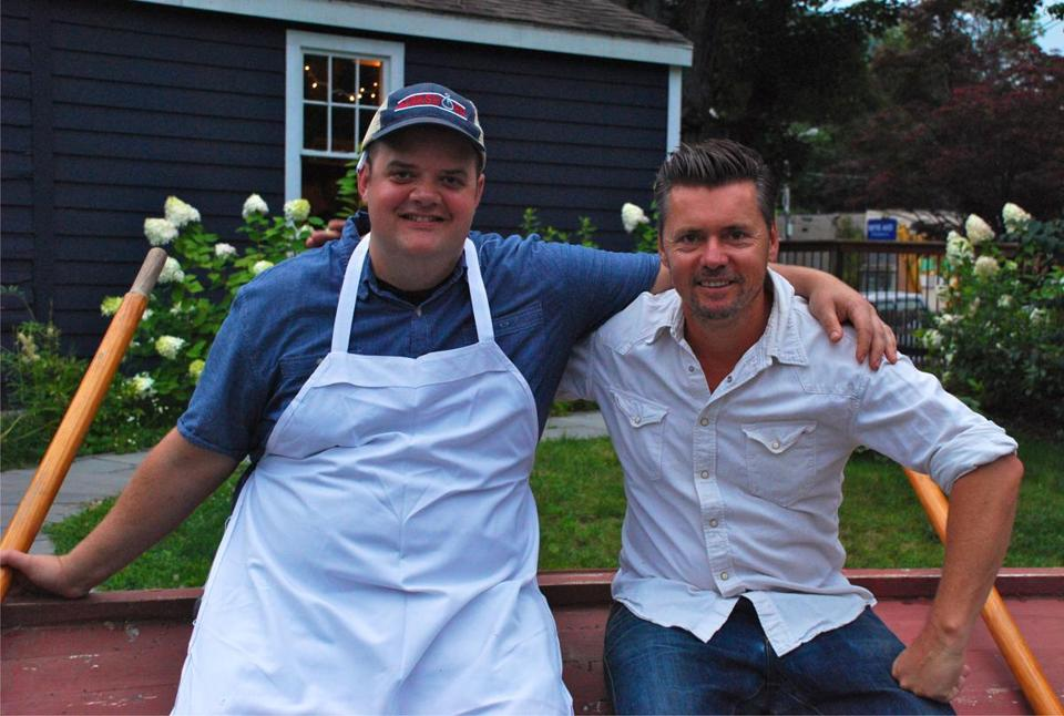 Prairie Whale Chef Stephen Browning and Owner, Mark Firth (on right).
