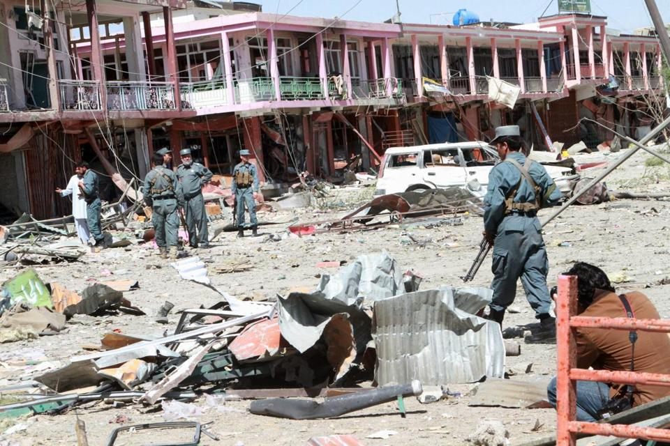 A Taliban bombing at an intelligence office in Ghazni on Thursday killed at least 12 and injured up to 60 more.