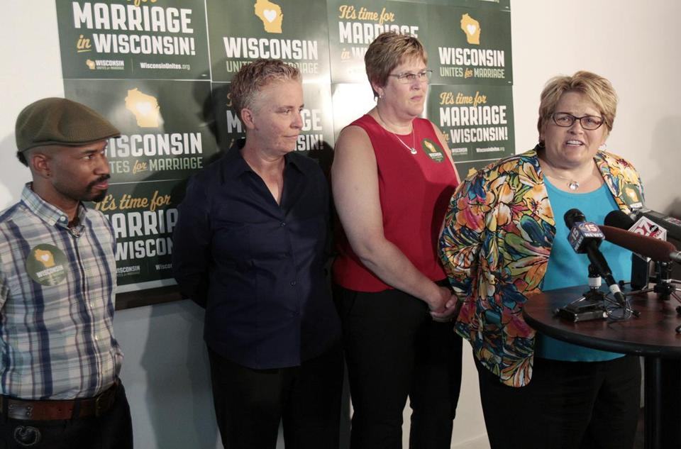 Plaintiffs in the Wisconsin case spoke in Madison on Thursday following the court ruling.