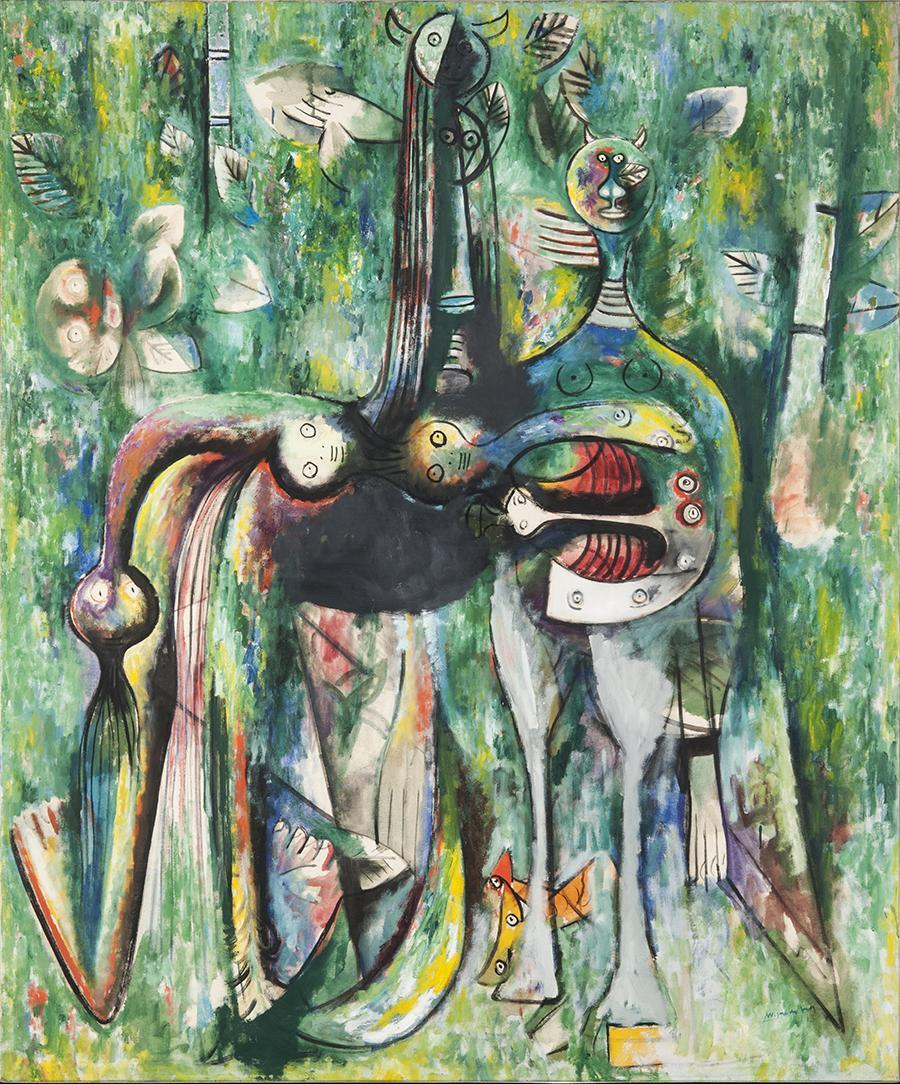 Wifredo Lam (1902Ð82), Le Sombre Malembo, Dieu du carrefour, 1943 Oil on canvas, 153 x 126.4 cm Rudman Collection Wifredo Lam © 2014 Artists Rights Society (ARS), New York/ADAGP, Paris 14lam