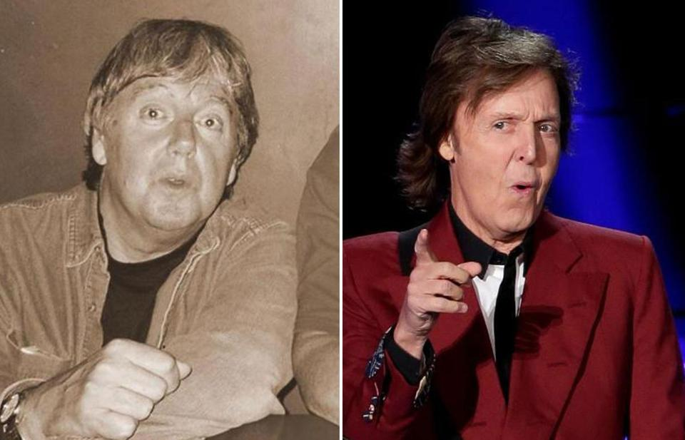 Herb Van Dam still bears a resemblance to Paul McCartney(below) , whom he was mistaken for by a crowd of screaming Beatles fans in September 1964.