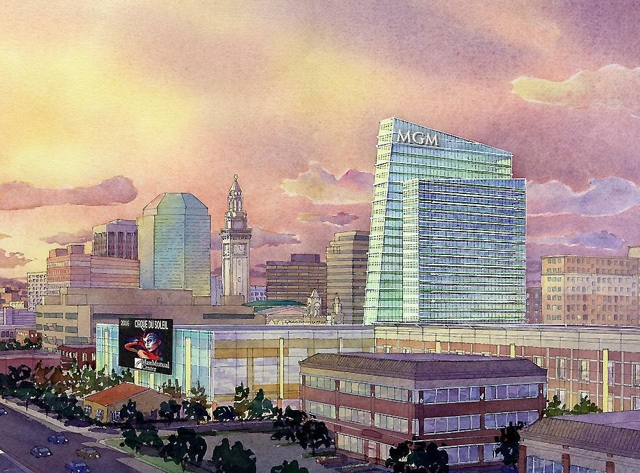 A rendering of MGM Springfield.