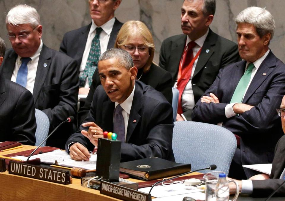President Obama spoke Wednesday at the UN Security Council.