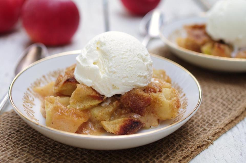 Recipe for apple-cream crisp