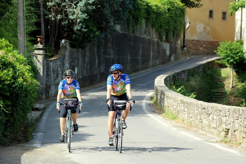 Trips like Ciclismo Classico's six-day Assagio Toscana jaunt takes bikers to Italian inns with stops to taste wine and olive oil from local vineyards and orchards.
