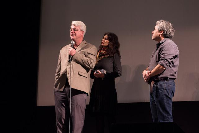 John and Diane Foley with Ross Kauffman at the New Hampshire Film Festival.