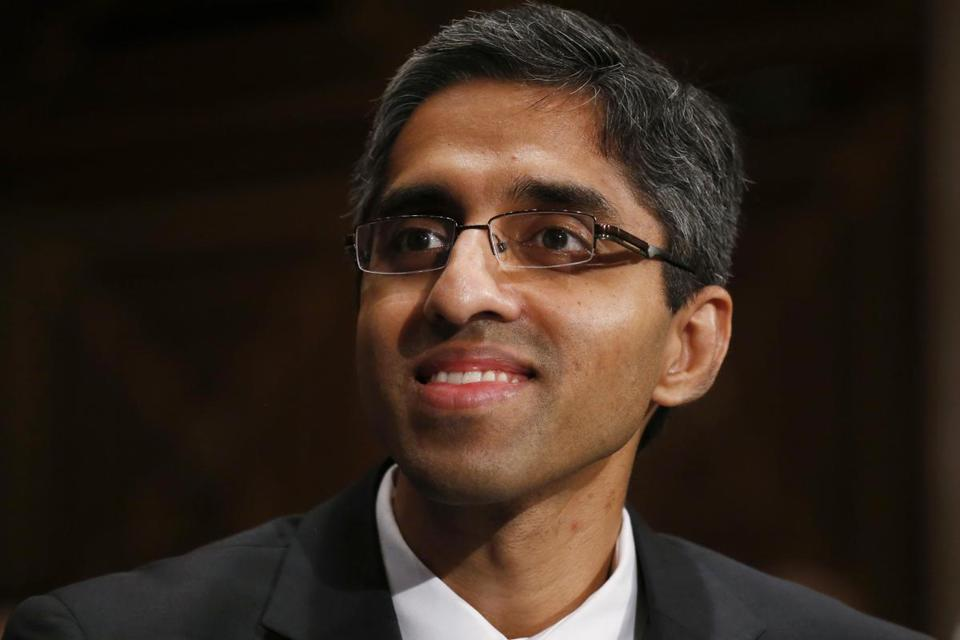 Dr. Vivek Murthy was in Washington in February for a confirmation hearing to be surgeon general.