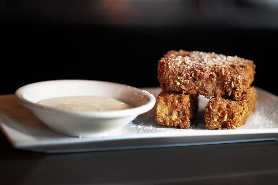 Golden Girls French toast , at Tremont 647, is served with vanilla mascarpone.