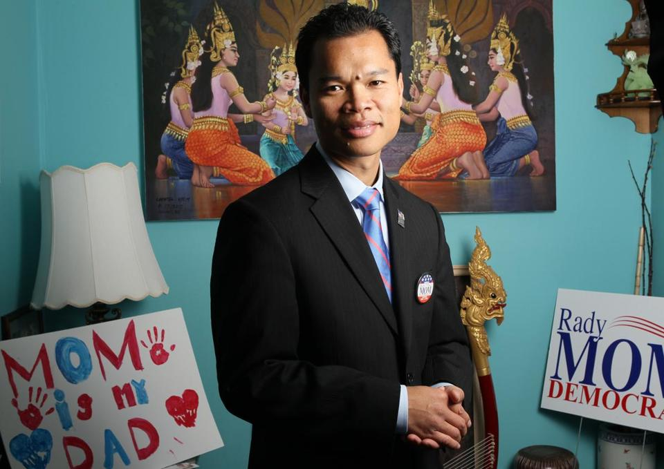 Rady Mom was first elected in 2014 and became the first Cambodian-American elected to the state Legislature in Massachusetts.