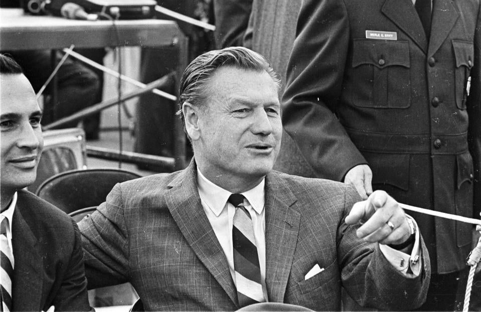 New York Governor Nelson Rockefeller shown at the signing of the Immigration Bill